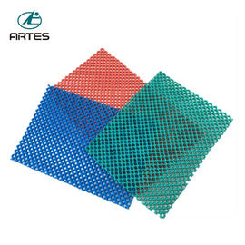 Anti - Fatigue Comfort Large Bathroom Mats , Wear Resistant Blue Bath Mat
